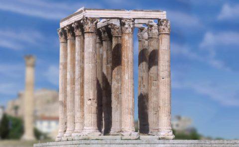 Zeus Temple, Athens 3D scan