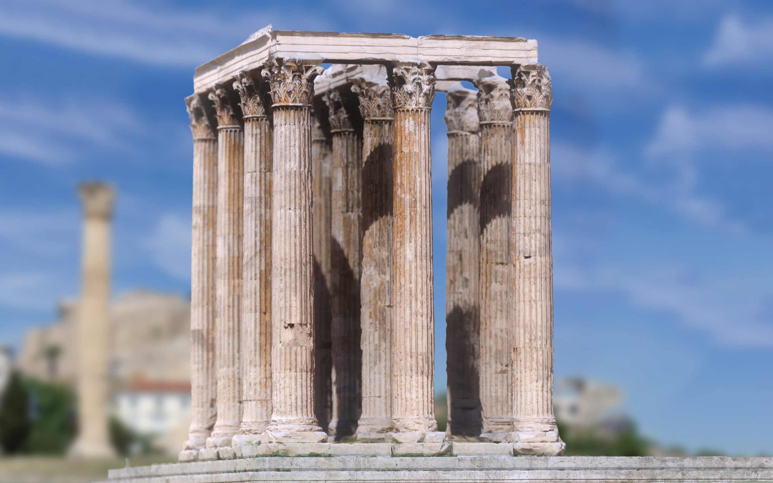 Zeus Temple, Athens 3D scan