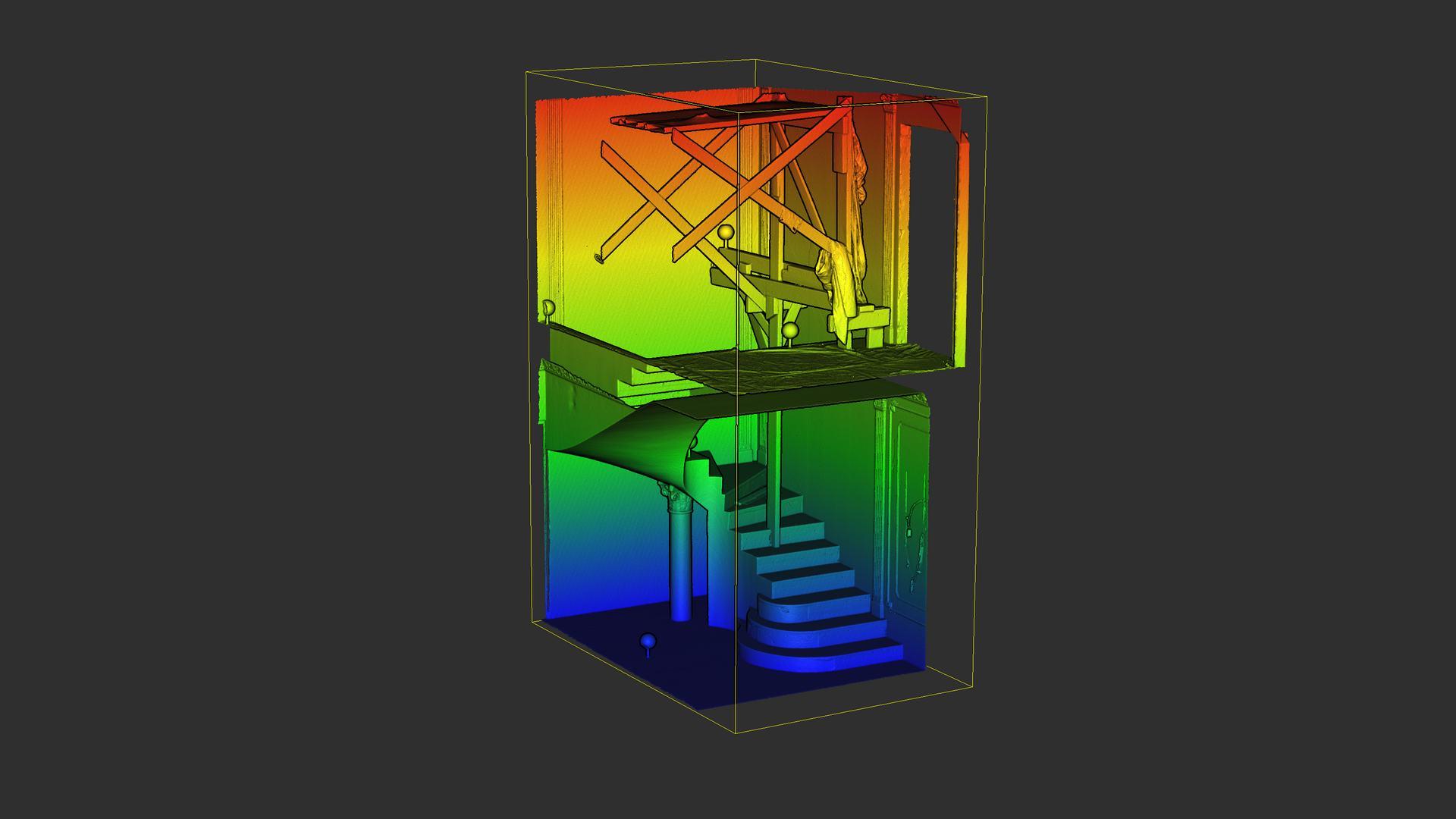 Schodiště color ramp mesh