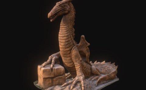 Dragon 3D scan