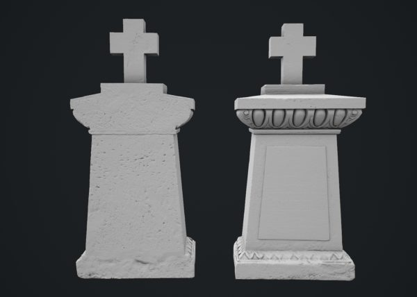 Tombstone 3D scanned model