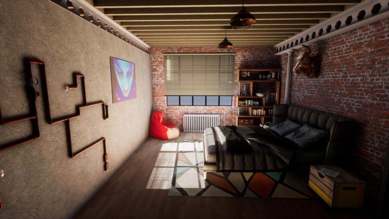 Archviz industrial loft Unreal Engine 4