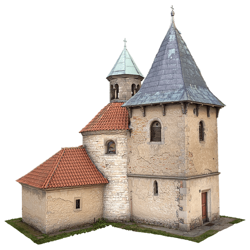 Holubice church 3D scan
